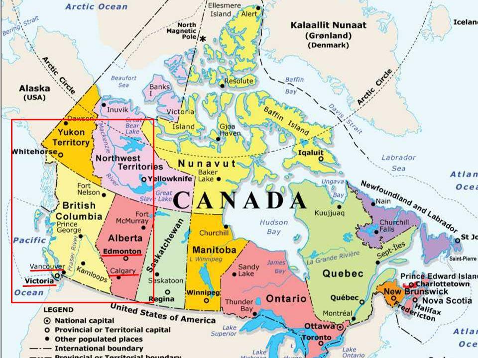 British Columbia AlbertaYukon
