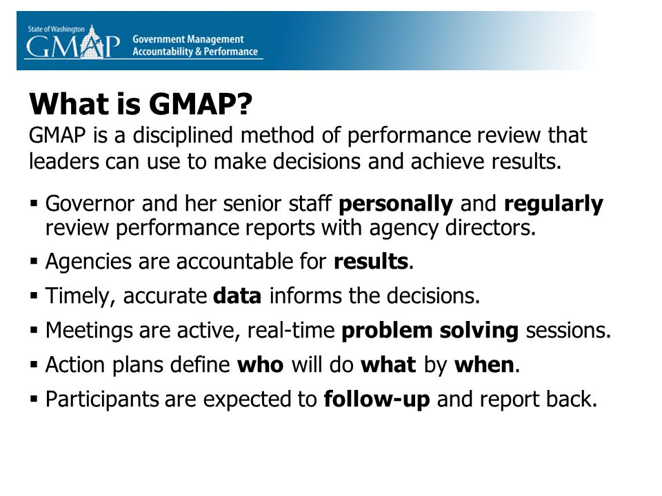 What is GMAP.