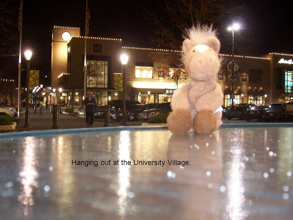 Hanging out at the University Village.