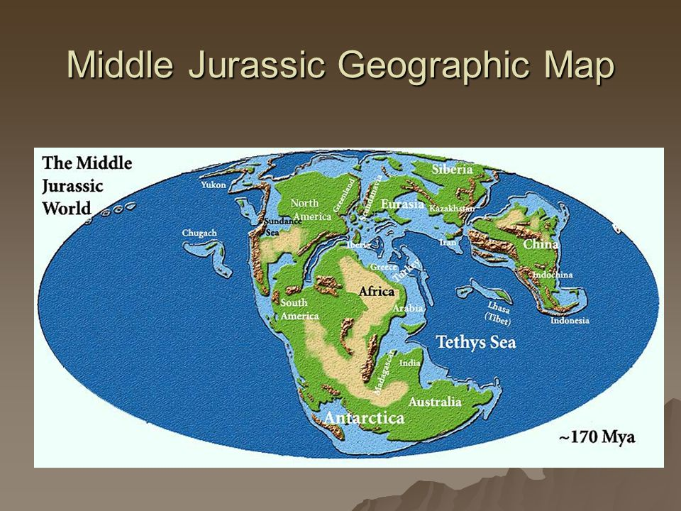 Middle Jurassic Geographic Map