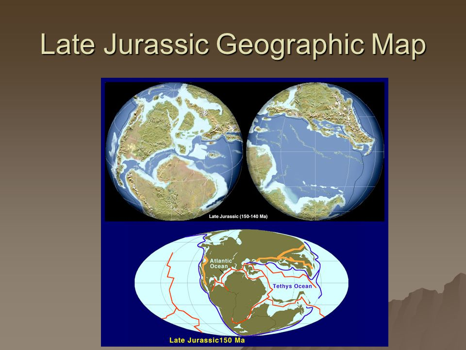 Late Jurassic Geographic Map