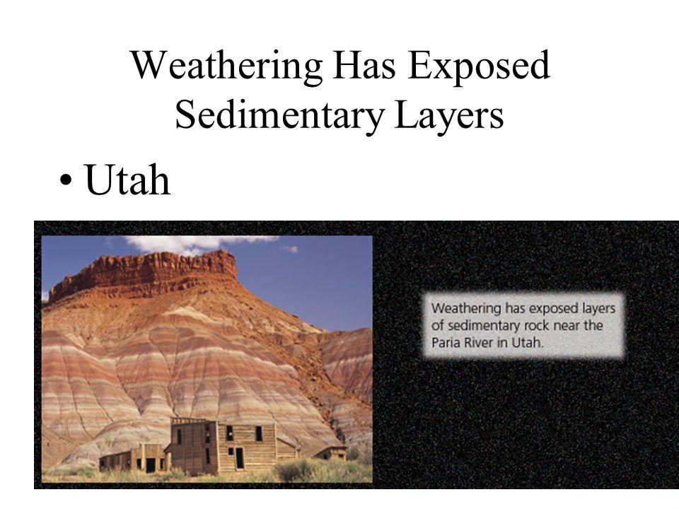 Weathering Has Exposed Sedimentary Layers Utah