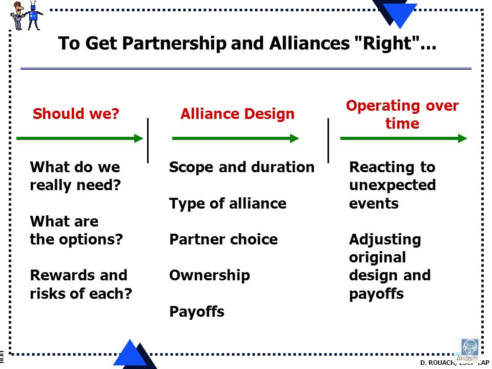 D. ROUACH, ESCP-EAP 10.01 To Get Partnership and Alliances Right ...