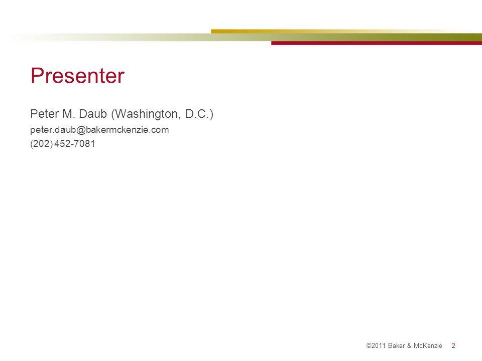 ©2011 Baker & McKenzie 13 Hopscotch Example: Dividend to SkipCo U.S.
