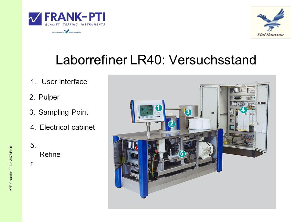 Laborrefiner LR40: Versuchsstand VPR Chapter 09 No 3478 Ed 01 5.