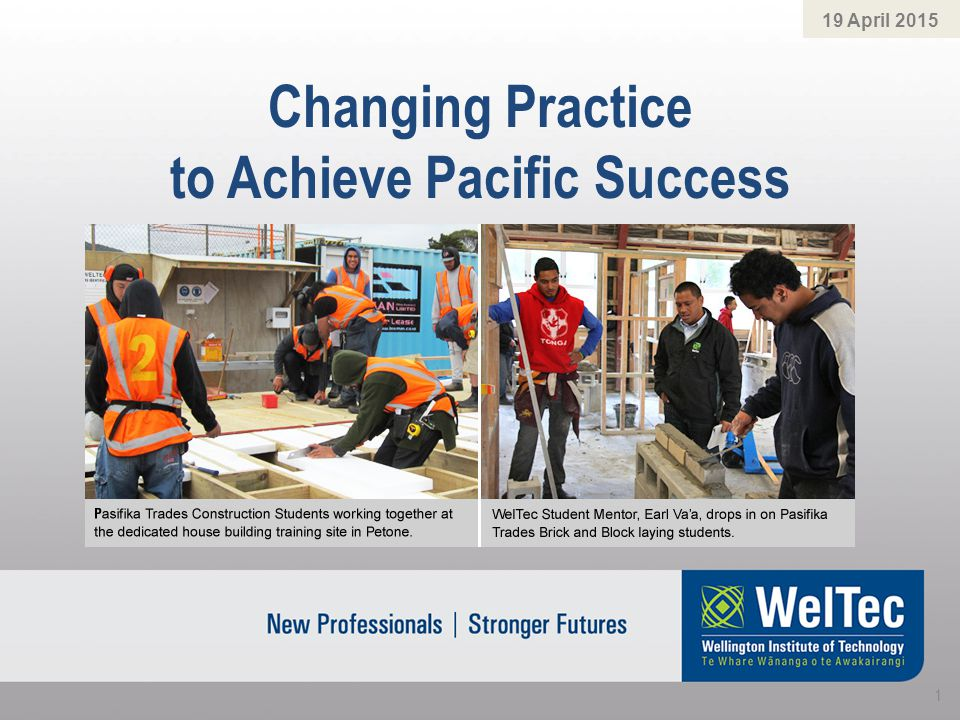 Changing Practice to Achieve Pacific Success 19 April 2015 1