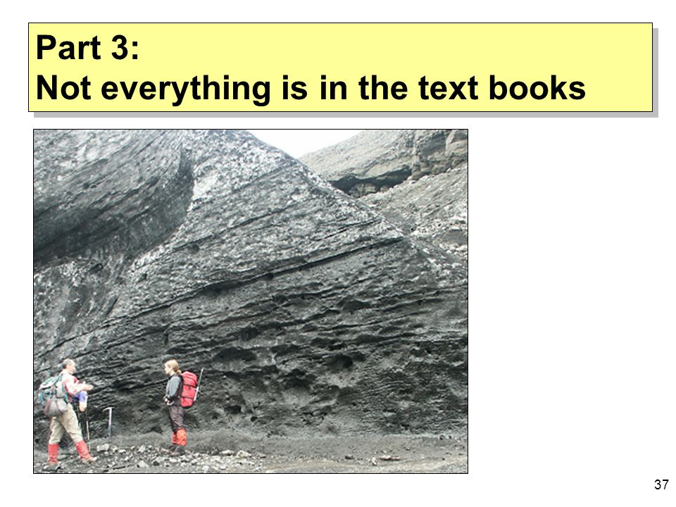 37 Part 3: Not everything is in the text books Part 3: Not everything is in the text books