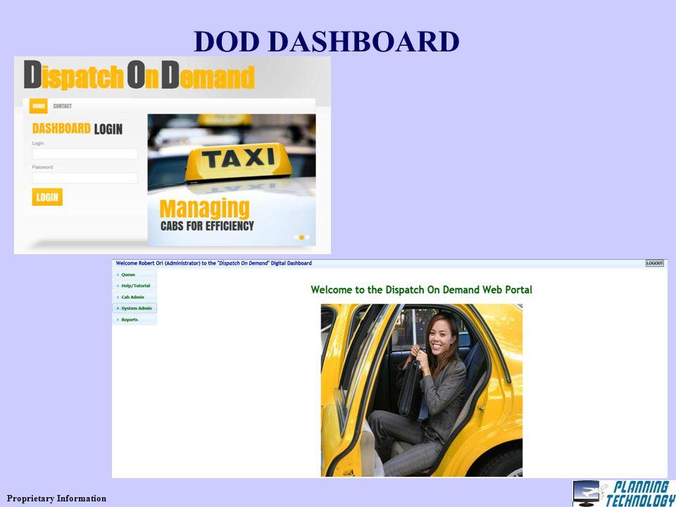 Proprietary Information DOD DASHBOARD