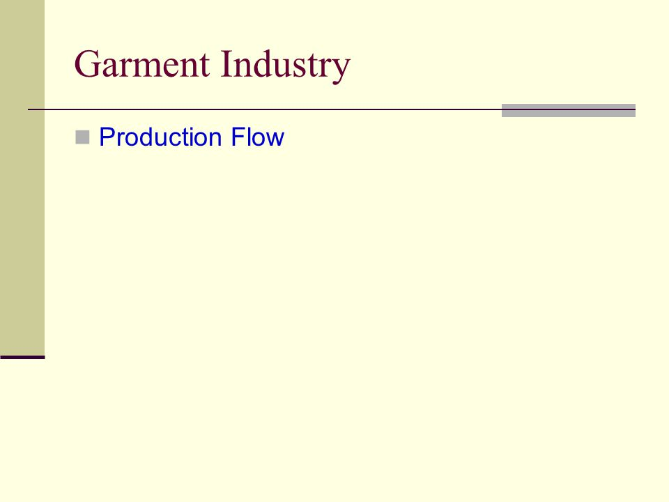 Garment Industry Production Flow