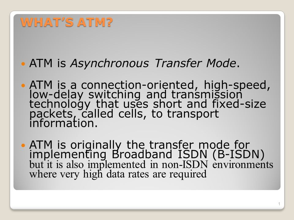 Networks: ATM2 Issues Driving LAN Changes Traffic Integration ◦Voice, video and data traffic ◦Multimedia became the 'buzz word'  One-way batchWeb traffic  Two-way batchvoice messages  One-way interactiveMbone broadcasts  Two-way interactivevideo conferencing Quality of Service guarantees (e.g.