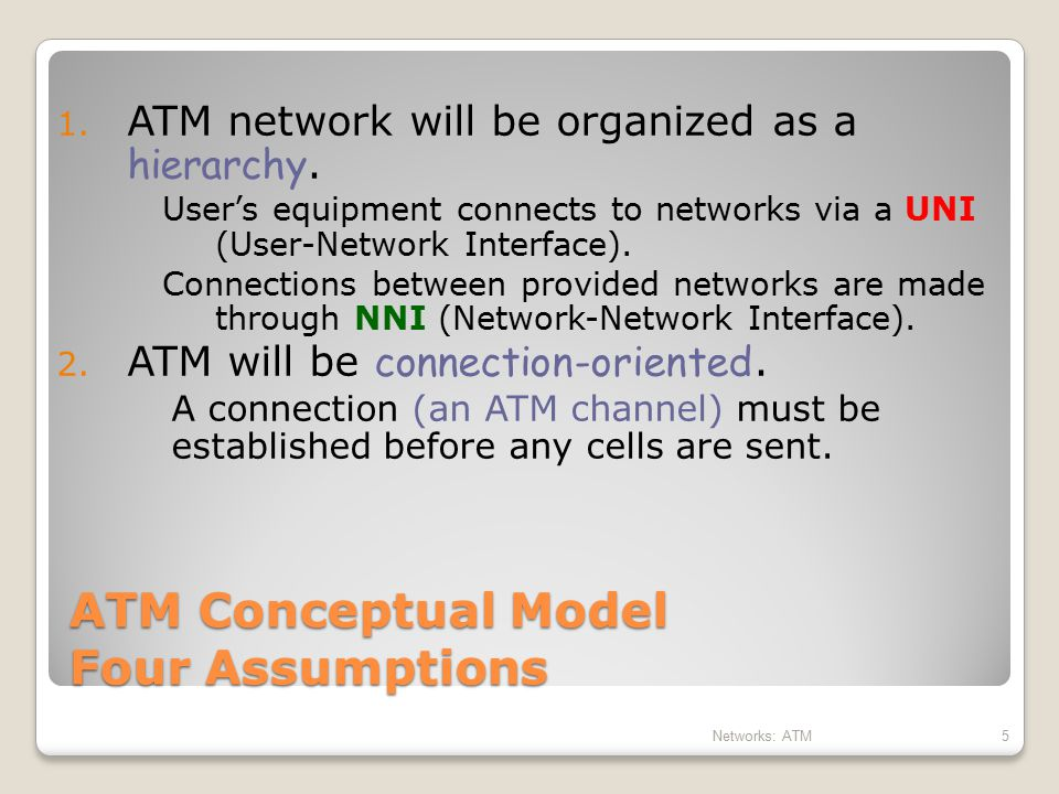 16 ATM Network H HH H H H H H Voice Video Data BISDN Services BISDN Services Reassembly User Applications Workstation Multiplexing Demultiplexing HHHH H H Segmentation