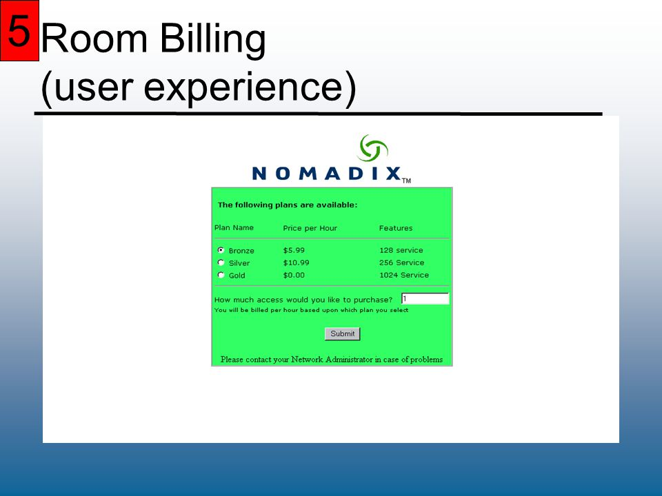 5 Room Billing (user experience) 5