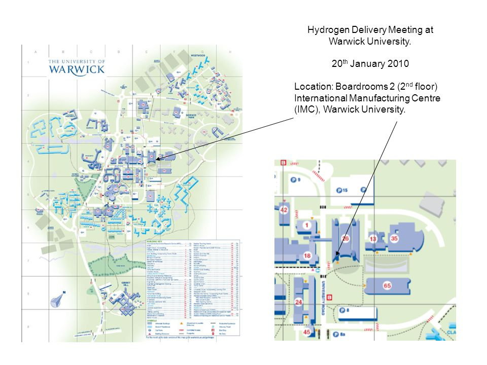 Hydrogen Delivery Meeting at Warwick University.