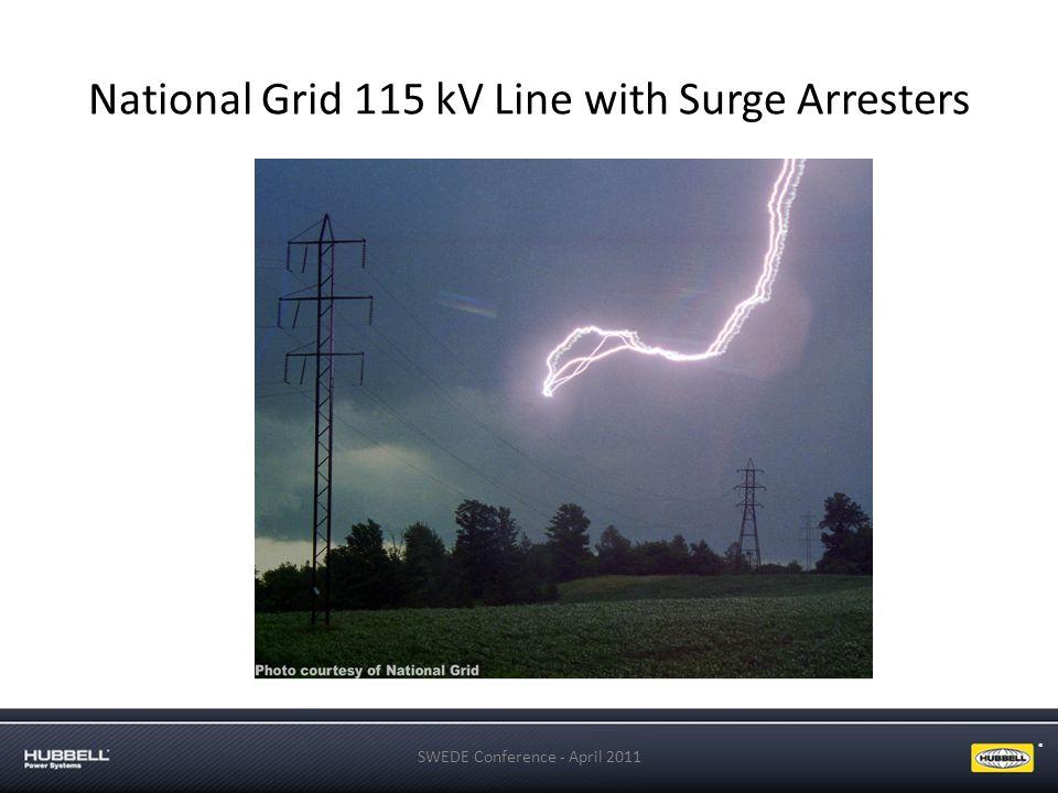 ® National Grid 115 kV Line with Surge Arresters SWEDE Conference - April 2011