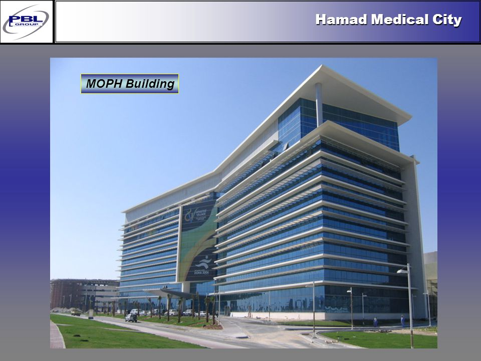 Products & R&DCertificationConclusionFactoryExport OutreachPBL Export Vision MOPH Building Hamad Medical City