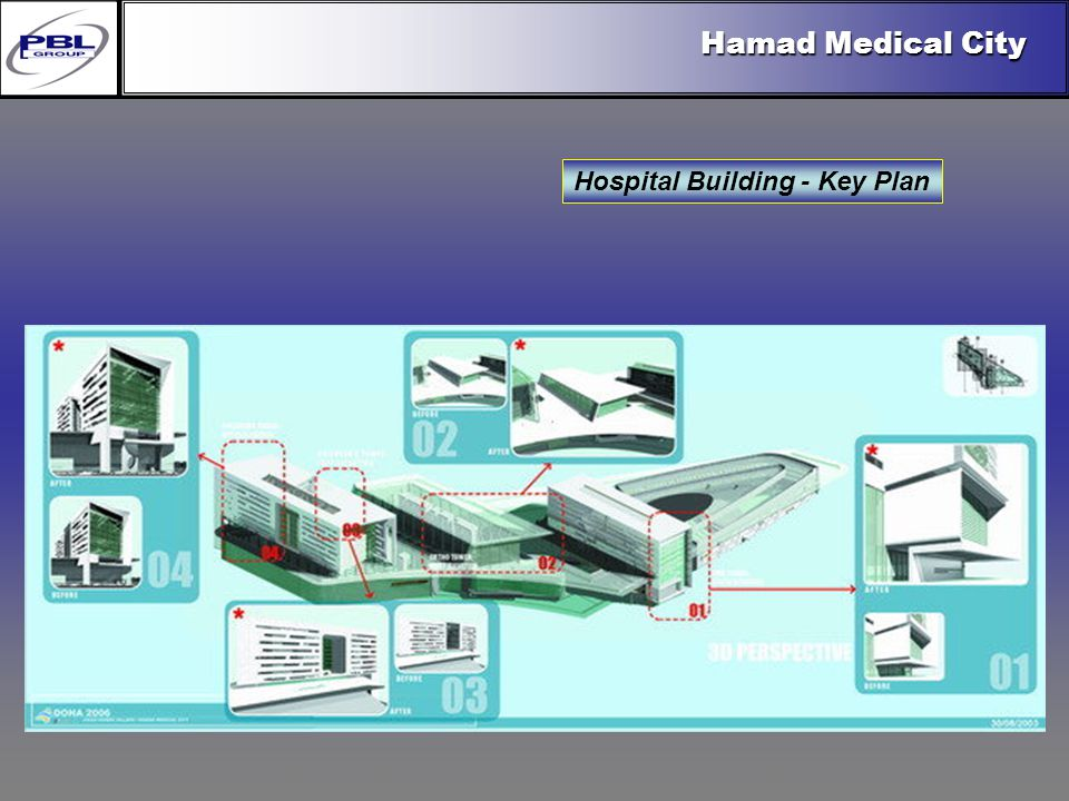 Products & R&DCertificationConclusionFactoryExport OutreachPBL Export Vision Hospital Building - Key Plan Hamad Medical City