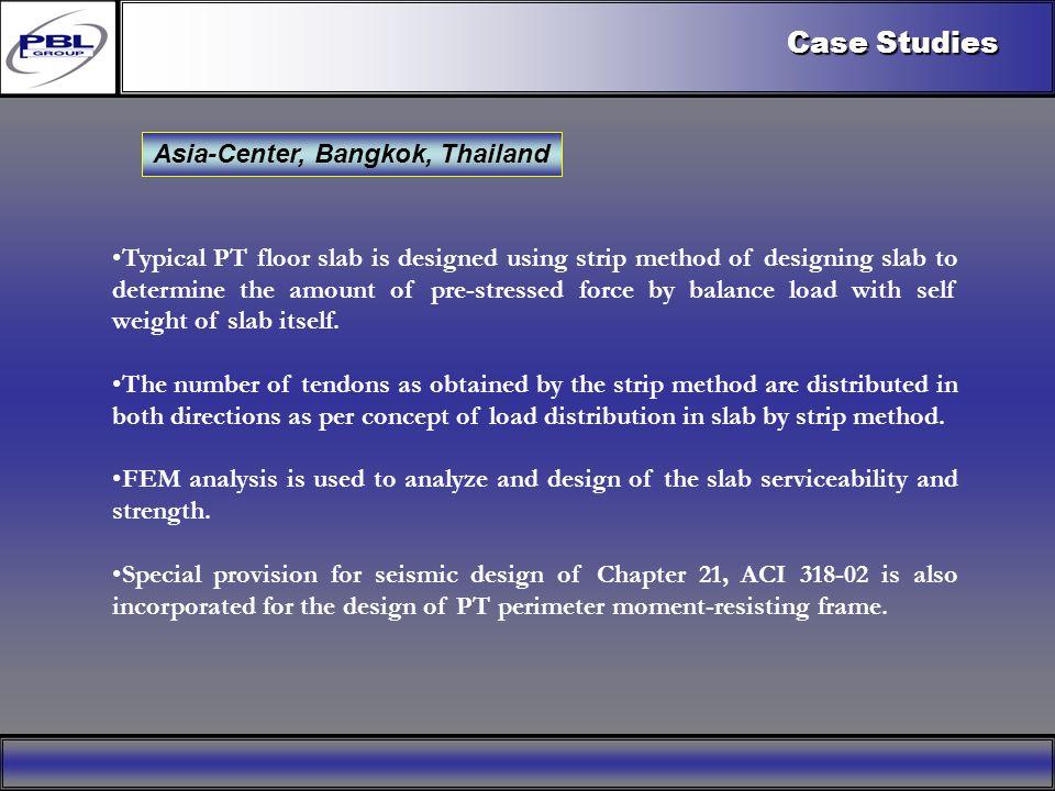 Products & R&DCertificationConclusionFactoryExport OutreachPBL Export Vision Case Studies Asia-Center, Bangkok, Thailand Typical PT floor slab is desi