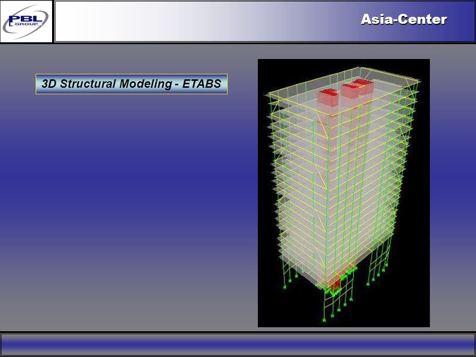 Products & R&DCertificationConclusionFactoryExport OutreachPBL Export VisionAsia-Center 3D Structural Modeling - ETABS