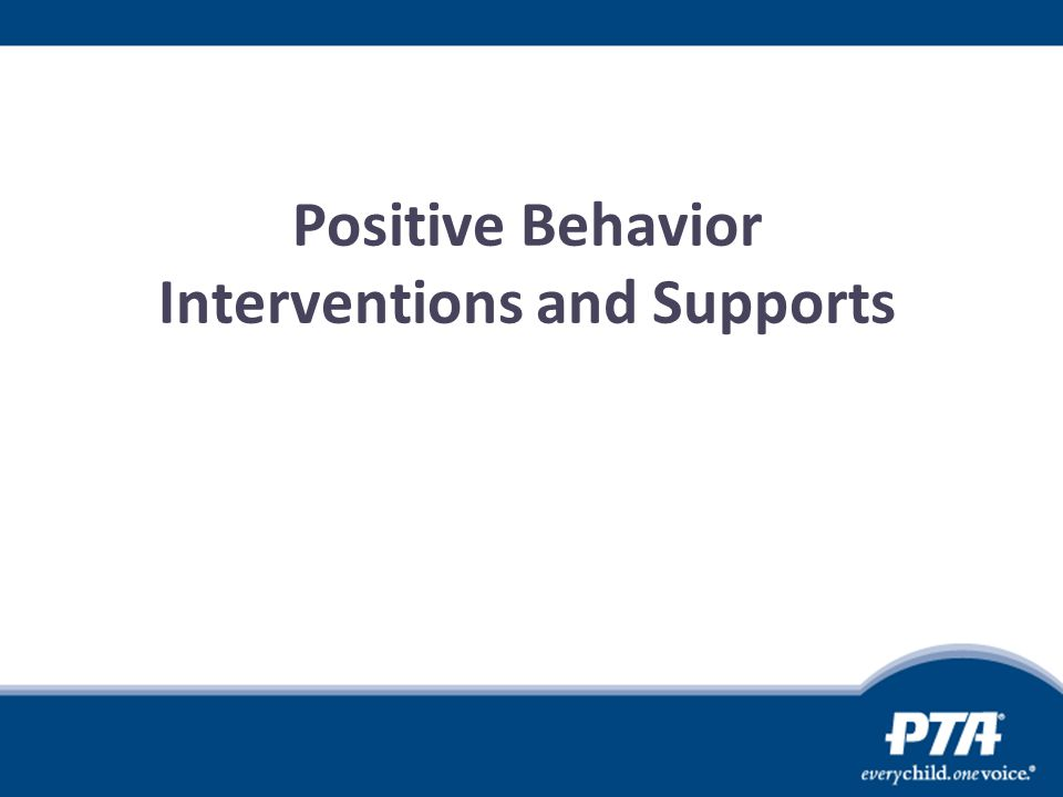 Positive Behavior Interventions and Supports