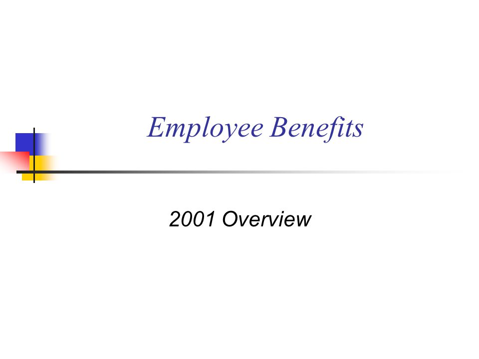 Employee Benefits 2001 Overview