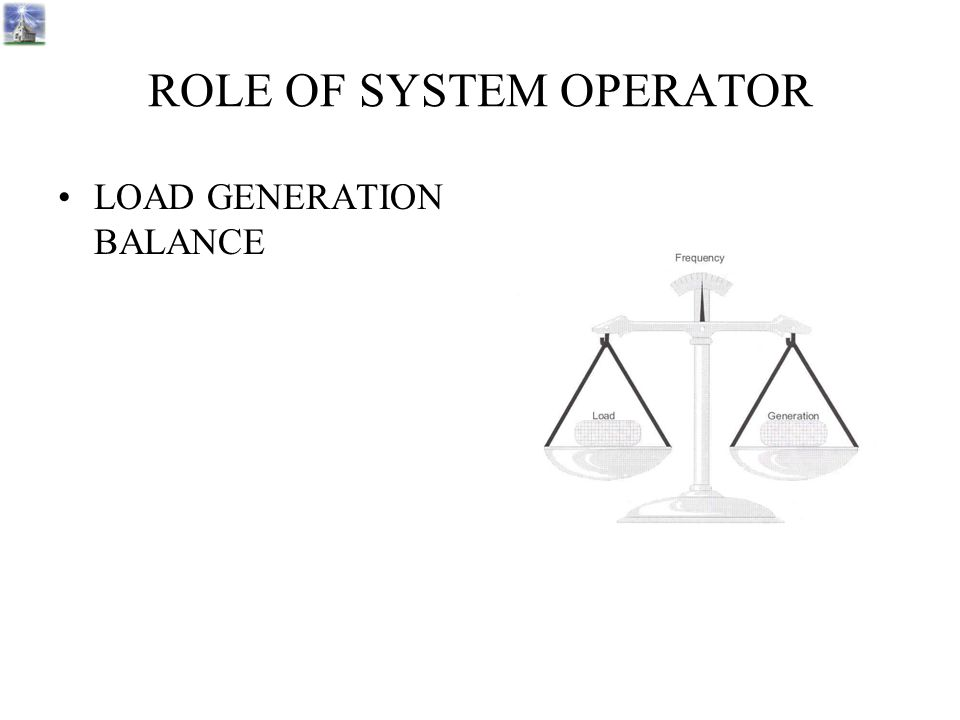 ROLE OF SYSTEM OPERATOR LOAD GENERATION BALANCE 50