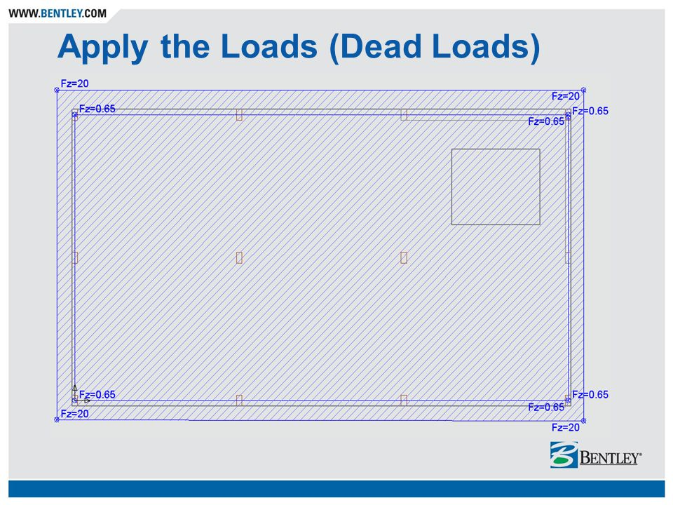 Apply the Loads (Dead Loads)