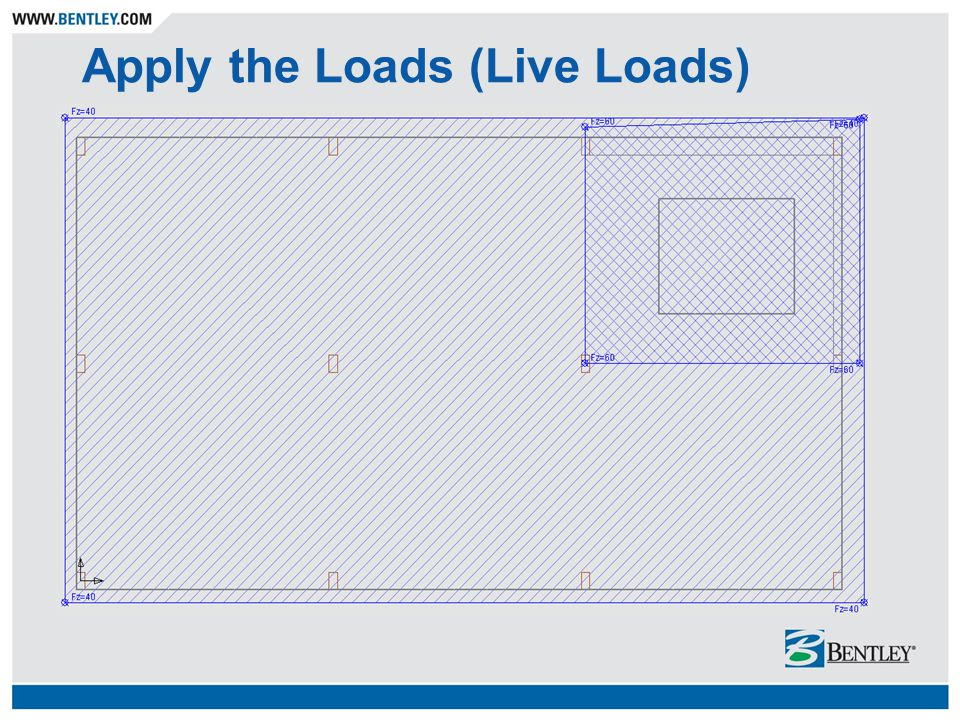 Apply the Loads (Live Loads)