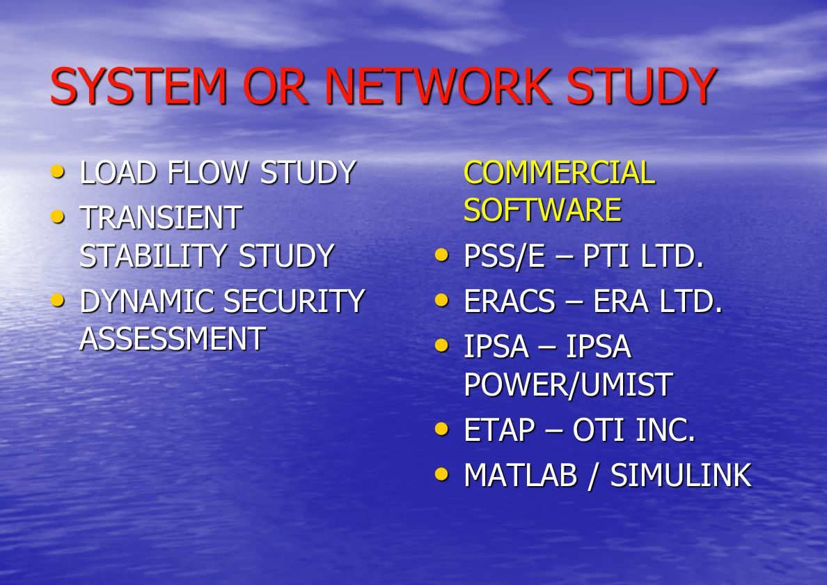 STABILITY CHALLENGES CAUSES SHORT CIRCUITS SHORT CIRCUITS LOSS OF TIE LINES IN UTILITY NETWORK LOSS OF TIE LINES IN UTILITY NETWORK LOSS OF GENERATION LOSS OF GENERATION SWITCHING OPERATIONS OF LINES, CAPACITORS ETC.