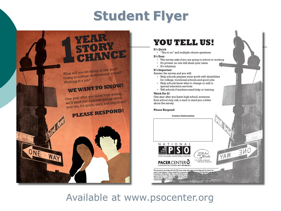 Student Flyer Available at www.psocenter.org