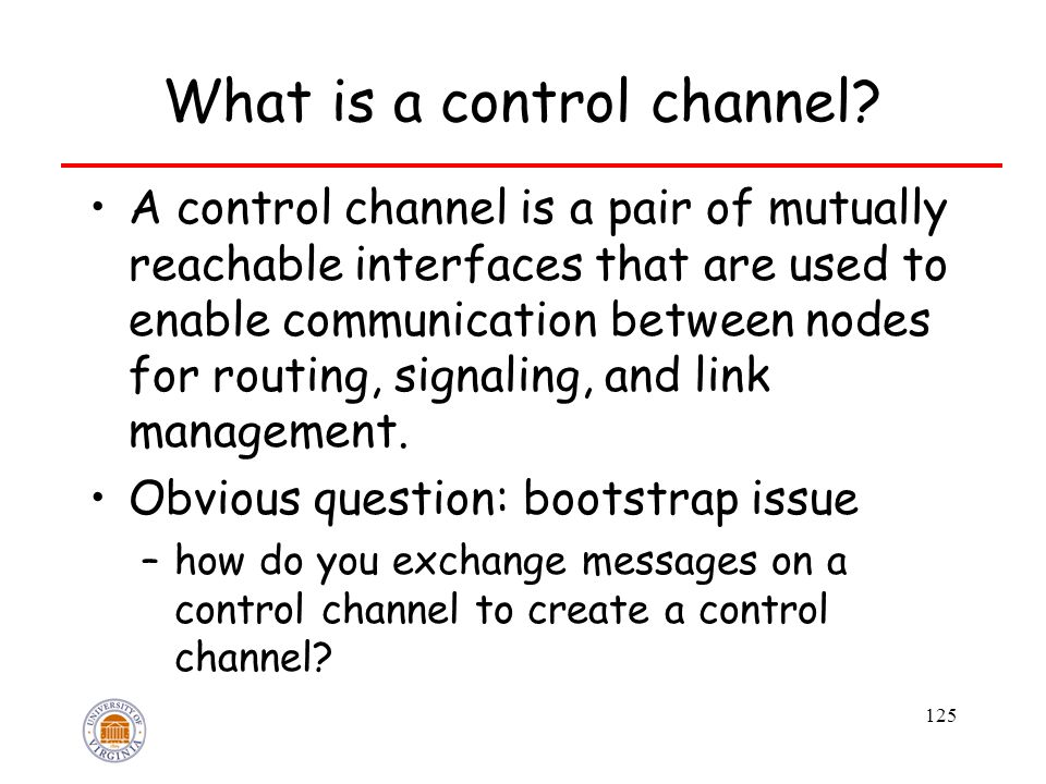 125 What is a control channel.