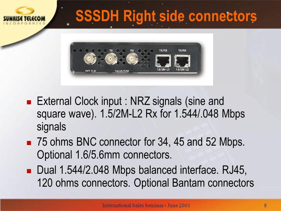 International Sales Seminar - June 200139 Agilent N1610A Service Advisor Portable Test Tablet n Modular platform for SDH, SONET, ADSL, ATM n N1675A (STM-0/1/4) n N1680A (STM-16/OC- 48).