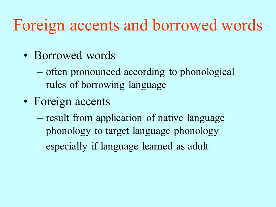 Phonological rules LING 200 Spring 2006