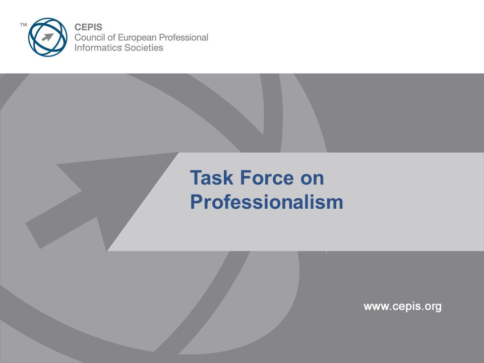 Presentation Title Here 30pt Arial Task Force on Professionalism