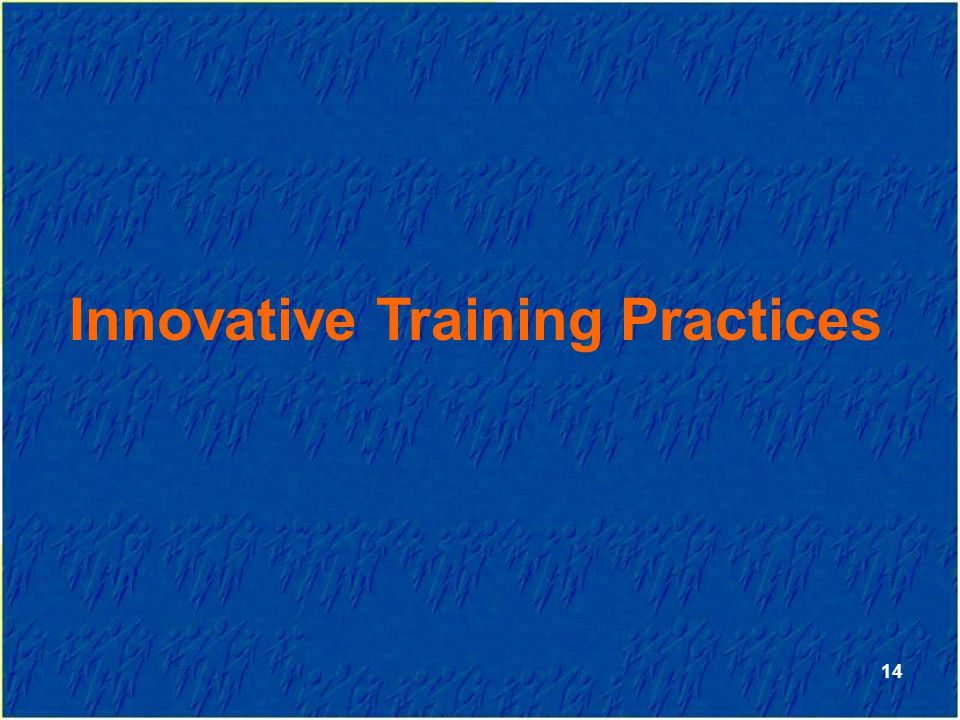Innovative Training Practices 14