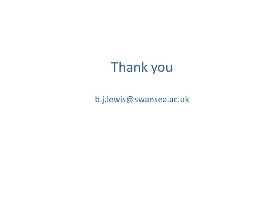Thank you b.j.lewis@swansea.ac.uk