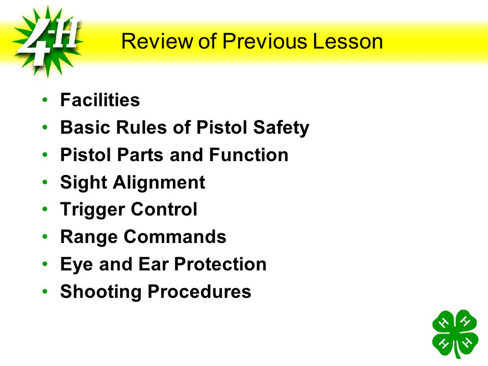Dry Firing and Live Firing on Target Backs Objectives Understand and practice dry firing Understand and practice live firing Understand and practice p