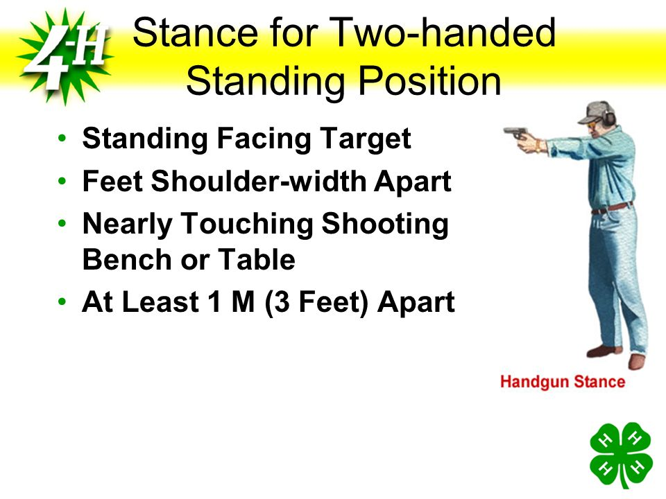 Shooting Positions Supported Seated Seated at Bench Pistol Supported on Rest Grip Resting on Table