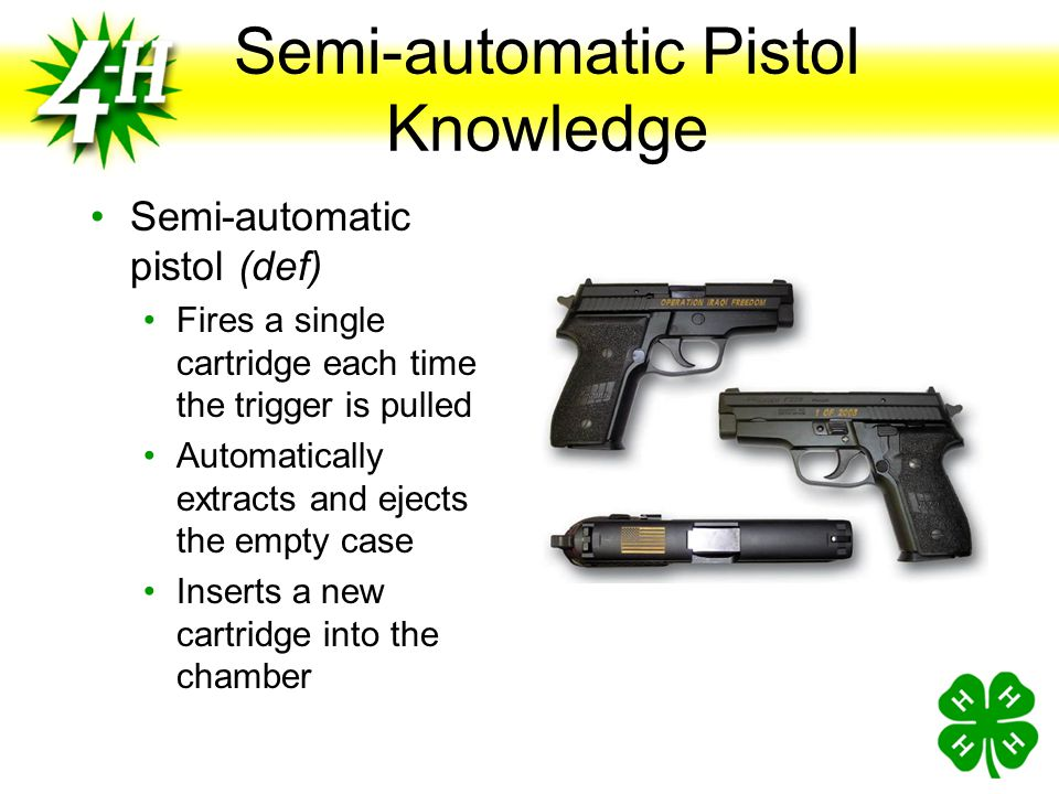 Basic Shooting Procedure Make the Pistol Safe Open the Action Remove all ammunition