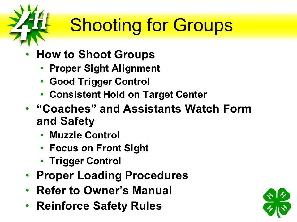 "Ammunition Being Used Type Rim Fire Center Fire Pellet ""Coaches"" Control Ammunition"