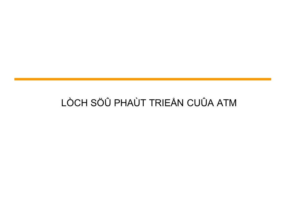 LÒCH SÖÛ PHAÙT TRIEÅN CUÛA ATM