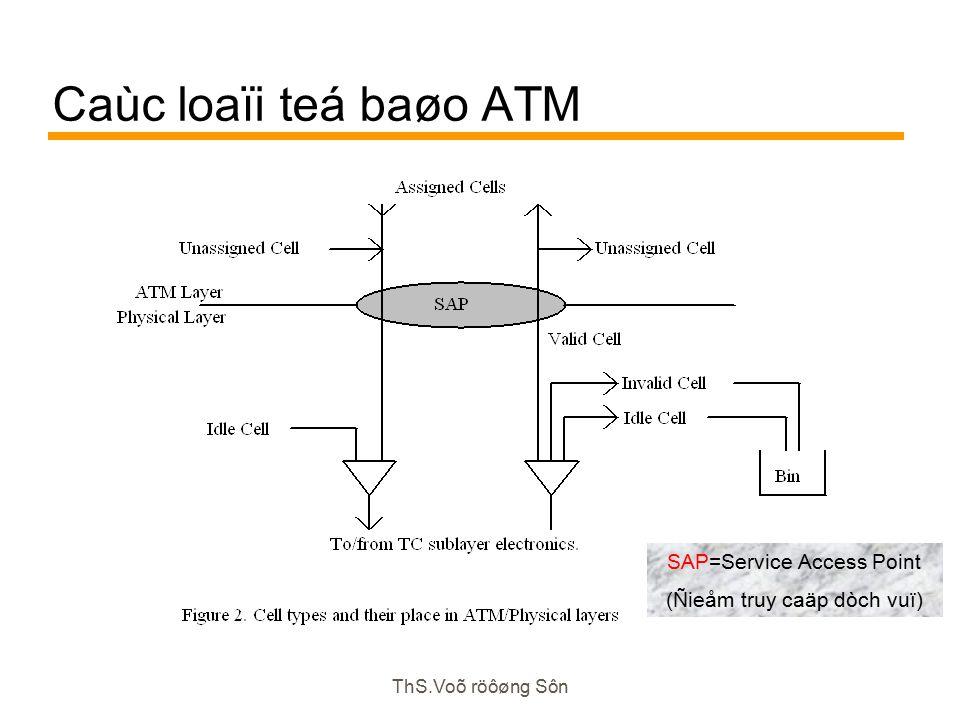 ThS.Voõ röôøng Sôn Caùc loaïi teá baøo ATM SAP=Service Access Point (Ñieåm truy caäp dòch vuï)