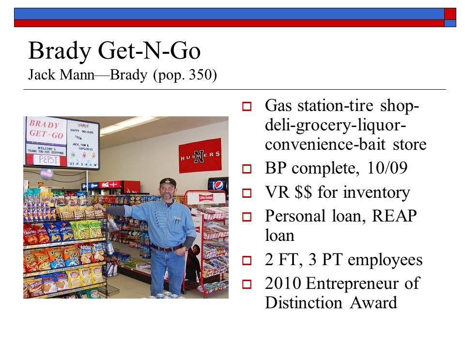 Brady Get-N-Go Jack Mann—Brady (pop.