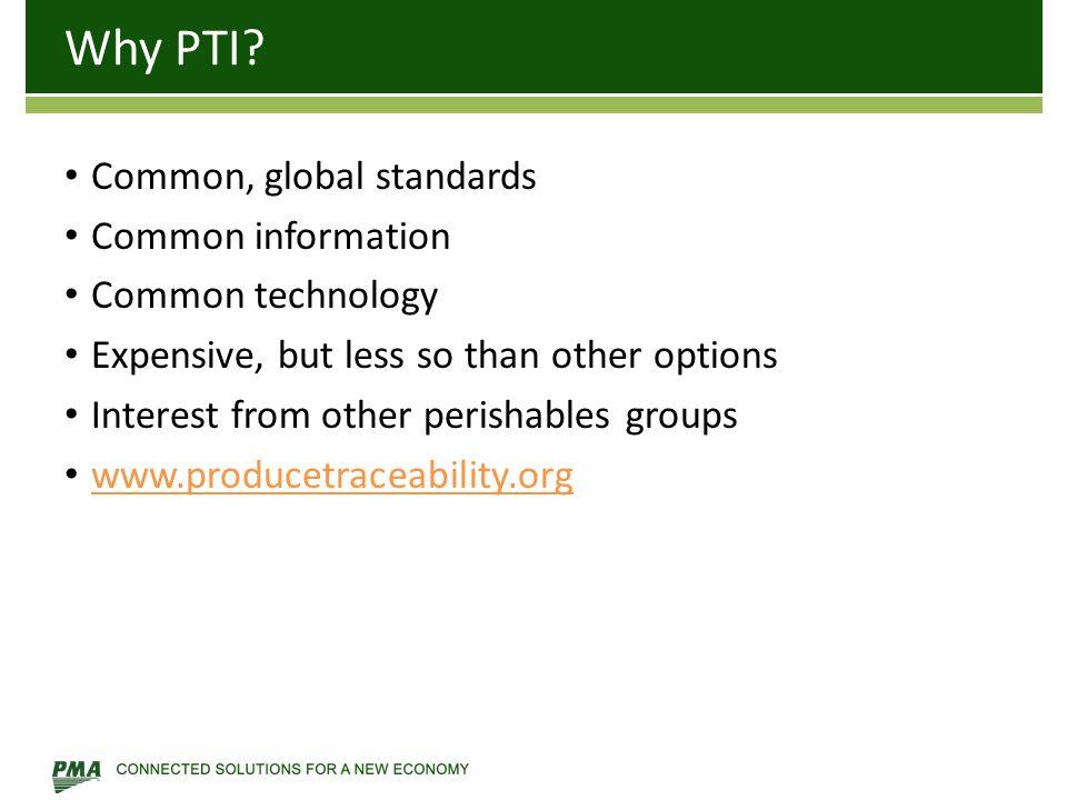 Why PTI.