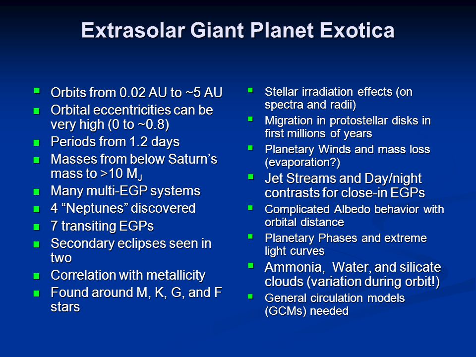 Orbital Properties of a Few Extrasolar Giant Planets