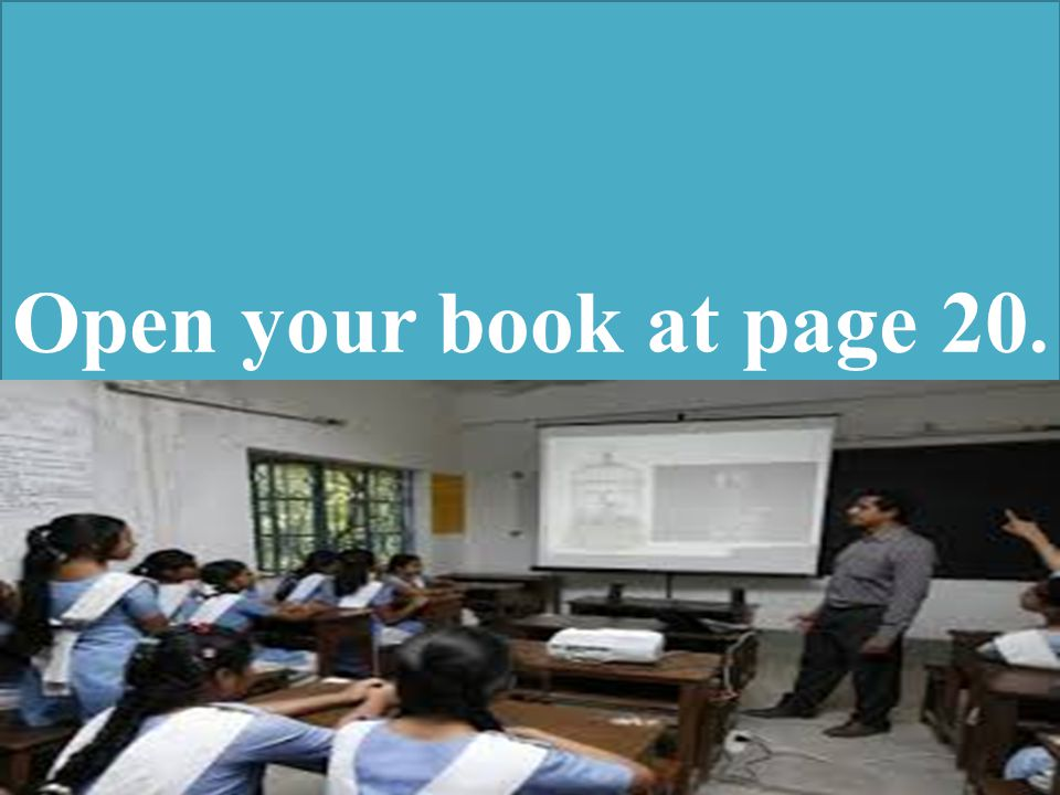 Open your book at page 20.
