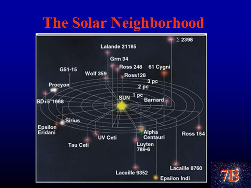 7B The Solar Neighborhood