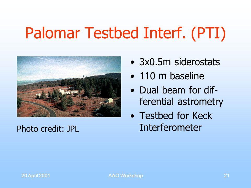 20 April 2001AAO Workshop21 Palomar Testbed Interf.