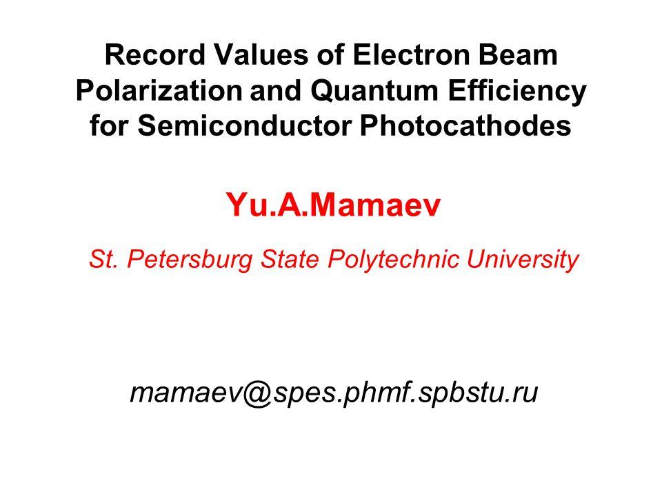 Collaborators Yu.P. Yashin, L.G.Gerchikov, V.V.