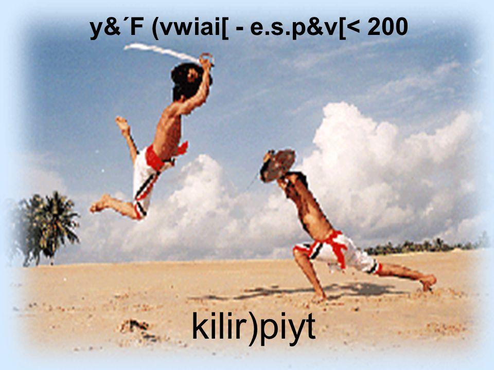 y&´F (vwiai[ - e.s.p&v[< 200 kilir)piyt