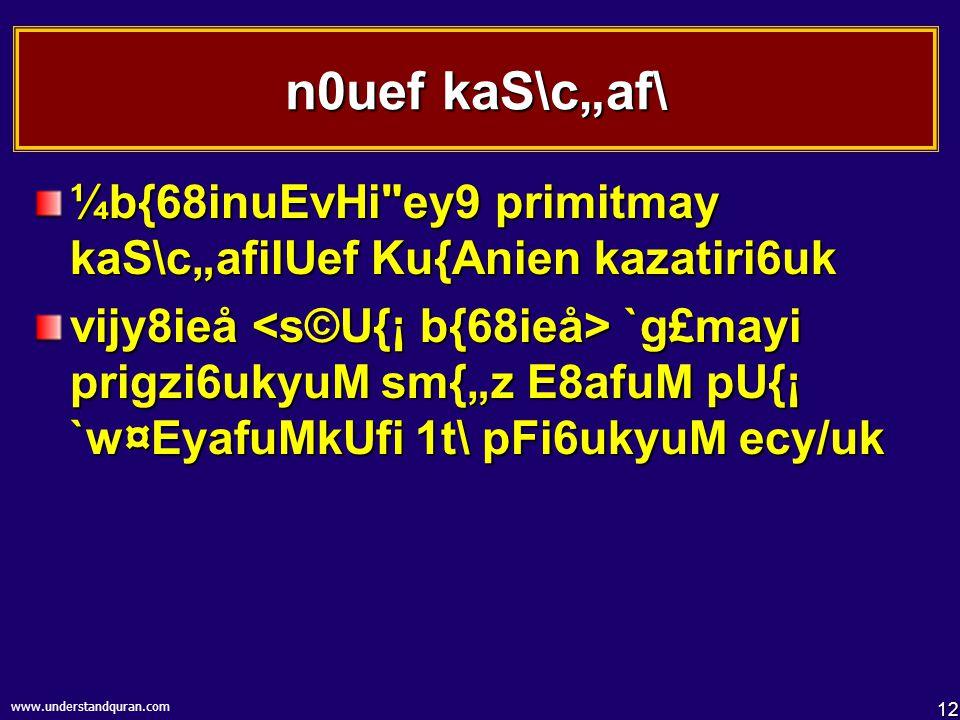 11 www.understandquran.com 1}_Ku{A[ vYk\titV viksn8ieå `g£M 1t\ niN]6\ n}ku9u.....